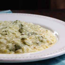 Easy Slow Cooker Asparagus Risotto
