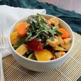 Thai Chicken Curry with Potatoes and Carrots