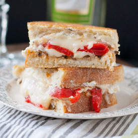 Roasted Red Pepper and Feta Grilled Cheese