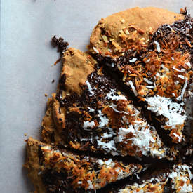 Brazilian Chocolate Coconut Dessert Pizza