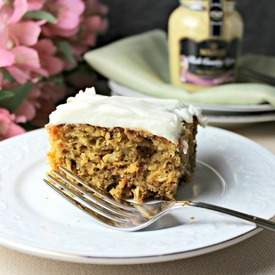 Dijon Carrot Cake with Cream Cheese Frosting