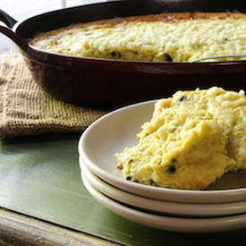 Skillet-Baked Corn Pudding