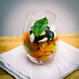 Heirloom Tomato Caprese Verrine