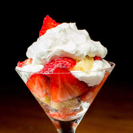 Strawberry & Chambord Cream Trifle