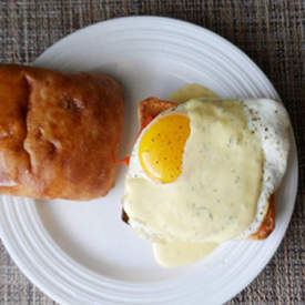 Egg Sandwich with Dill Hollandaise