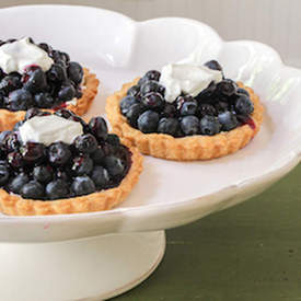 Mom's Glazed Blueberry Tarts
