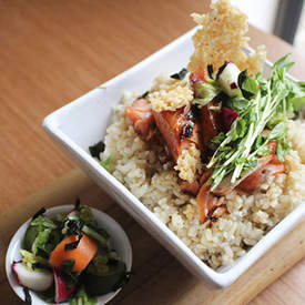 Brown Rice Bowl with Teriyaki Ocean Trout