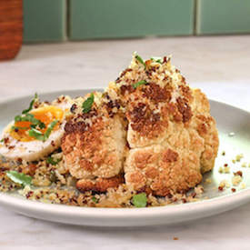 Roast Cauliflower & Quinoa Breadcrumbs