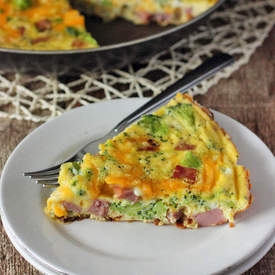 Broccoli, Cheddar, and Ham Frittat
