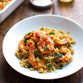 Garlic Butter Shrimp Quinoa