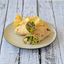 Chicken Caesar Hummus Wraps