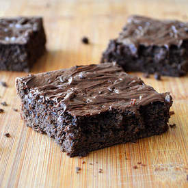 Vegan Black Bean Chocolate Chip Brownie