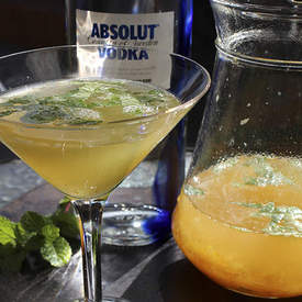 Yuzu Cocktail with Vodka and Mint