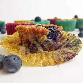 Banana Blueberry Oatmeal Muffins