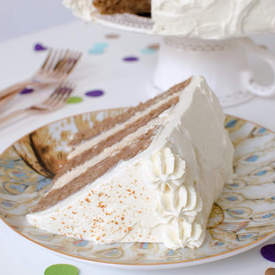 Chai Cake with Maple Cream Cheese Frosting