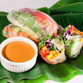 Summer Rolls with Spicy Peanut Sauce