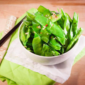 Spicy Garlic Snow Peas