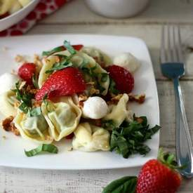 Strawberry Basil Pasta Salad