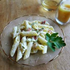 Pasta with Bacon Cream Sauce