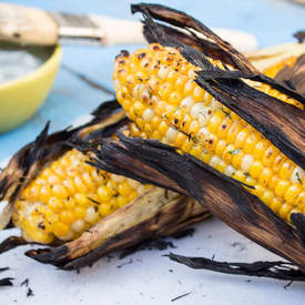 Grilled Herb Butter Corn