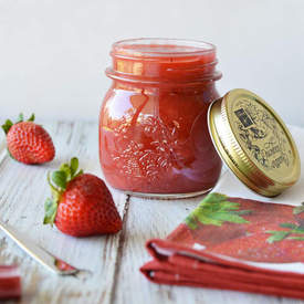 Vegan Strawberry Rhubarb Jam