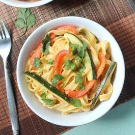 Thai curry linguine