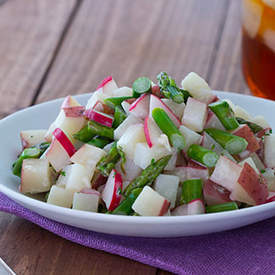 Asparagus and Radish Potato Salad