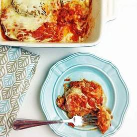 Layered Baked Eggplant Parmesan