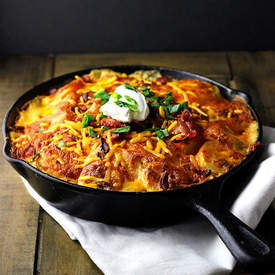 Loaded Skillet Potato au Gratin