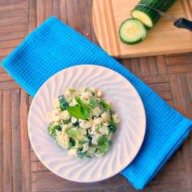 Egyptian Feta Cucumber Salad
