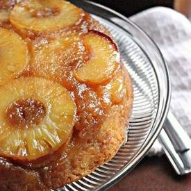 Pineapple Peach Upside Down Cake