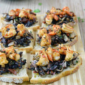 Radicchio, Fennel & Shrimp Bruschetta