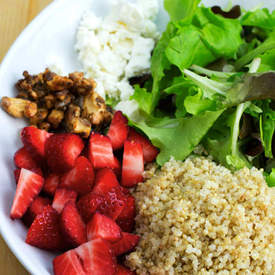 Strawberry, Quinoa, Walnut and Feta Salad