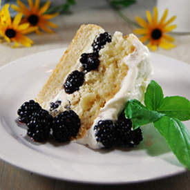 Blackberry Shortcake with Basil Syrup