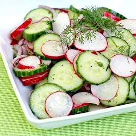 Dilled Cucumber and Radish Salad