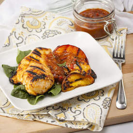 Chipotle-Peach Grilled Chicken