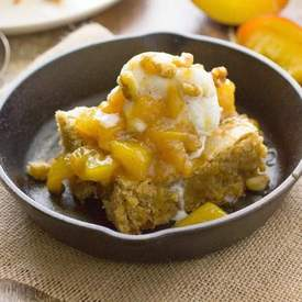 Blondies with Peach Compote