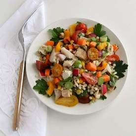 Chicken and Israeli Couscous Vegetable Salad