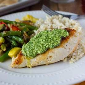 Greek Pesto with Grilled Chicken and Mediterranean