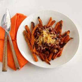 Sweet Potato Chili Cheese Fries