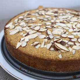 Orange, almond and pistachio cake