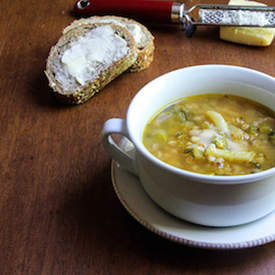 Summer Vegetable-Farro Soup