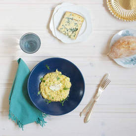Blue Cheese Scrambled Eggs