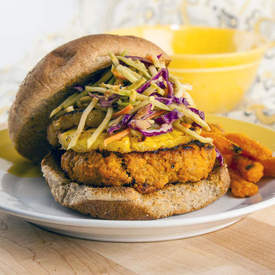 Thai Turkey Burger with Grilled Pineapple