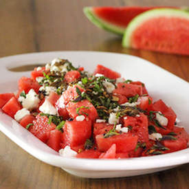 Watermelon & Feta Salad with Verjus