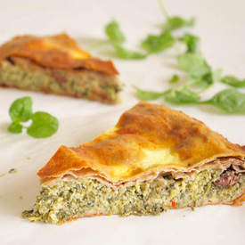 Greek Zucchini-Spinach Pie