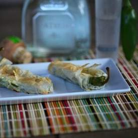 Cheese Stuffed Jalapeno Phyllo Bites