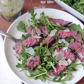 Grilled Steak with Arugula Salad