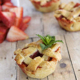 Gluten Free Strawberry Rhubarb Mini Pies