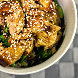 Crockpot Sesame Honey Chicken